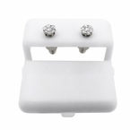 Small Diamond Cluster Earrings .925 Silver .26cttw