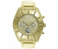 Smooth Gold .25 Carat Real Diamond Bling JoJino Watch