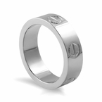 Stainless Steel Button Ring High Polished