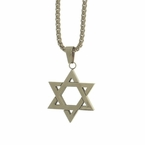 Star of David Stainless Steel Pendant Chain Set