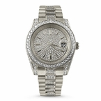 The Executive Stainless Steel CZ Watch