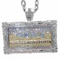 The Last Supper 2 Tone Rhodium Iced Out Pendant