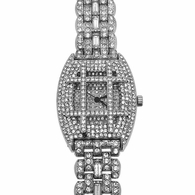 Tic Tac Toe Dial Bling Bling Watch