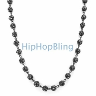 Totally Iced Out Bead Chain Black