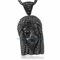 Totally Iced Out Black Jesus Piece