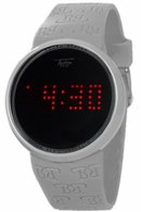 Touch Screen Digital Watch in White Techno Pave