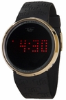 Touch Screen Gold Digital Watch Black Band