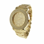 Triple Iced Out Gold Hip Hop Watch