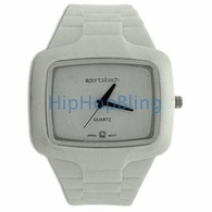 White Rubber Fashion Mens Watch