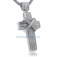 X Cross Bling Bling Pendant