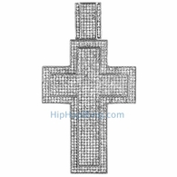 XXL Mega Iced Out Cross Bling Bling Pendant