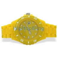 Yellow Plastic Submariner Date Fashion Watch