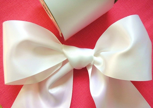 "4"" Wide Bridal Satin Ribbon - click to enlarge"