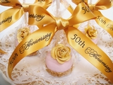 50th Anniversary Golden Ribbon - 7/8""