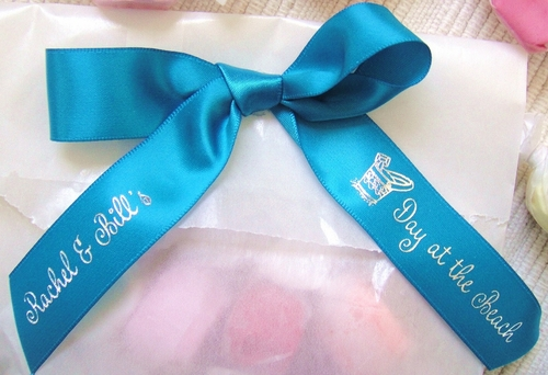 Beach Pail Favor Ribbon - click to enlarge