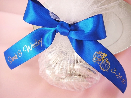 Beach Theme Favor Ribbon - click to enlarge