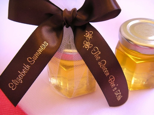 Bee Theme Favor Ribbon - click to enlarge