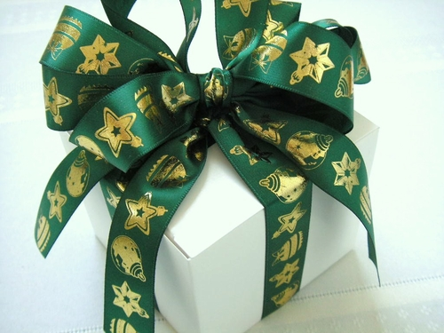 "Christmas Ornaments Ribbon 7/8"" - click to enlarge"