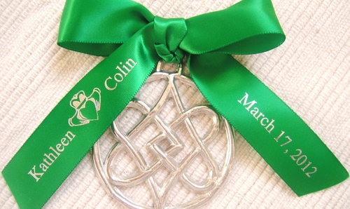 Claddagh Personalized Favor Ribbon - click to enlarge