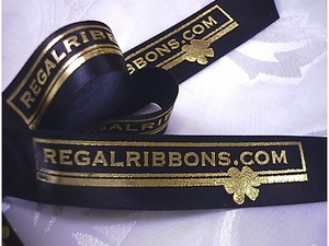 "Custom Logo Ribbon - 7/8"" - click to enlarge"