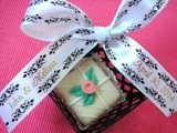 Damask-Style Personalized Favor Ribbons