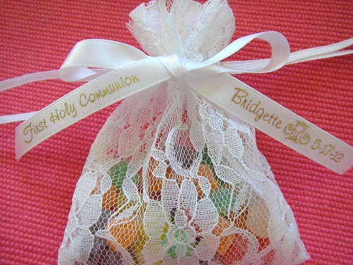 "First Holy Communion Favor Ribbon 3/8"" - click to enlarge"