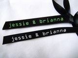 Geek Love Wedding Favor Ribbon