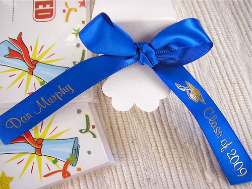"Graduation Favor Ribbon 5/8"" - click to enlarge"