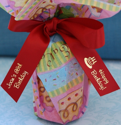 Happy Birthday Personalized Favor Ribbons - click to enlarge