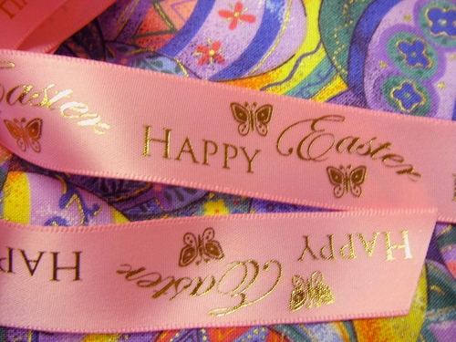"Happy Easter Ribbon 7/8"" - click to enlarge"