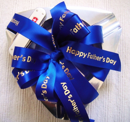 "Happy Father's Day Ribbon - 7/8"" - click to enlarge"