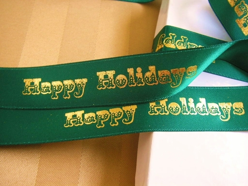 "Happy Holidays Carnival Ribbon - 7/8"" - click to enlarge"