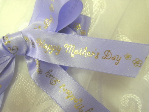 "Happy Mother's Day Ribbon - Daisies 7/8"" - click to enlarge"