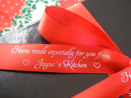 "Home Made Gift Ribbon 7/8"" - click to enlarge"