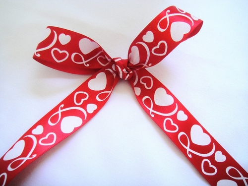 "Infinite Hearts Ribbon 7/8"" - click to enlarge"