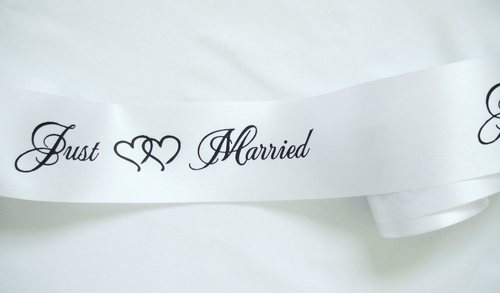 Just Married Ribbon - click to enlarge
