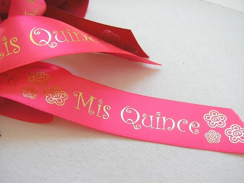 "Mis Quince Ribbon - 7/8"" - click to enlarge"