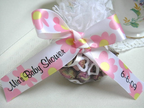 Pastel Daisy Favor Ribbon - click to enlarge