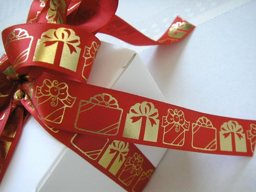 "Presents Galore Ribbon - 7/8"" - click to enlarge"