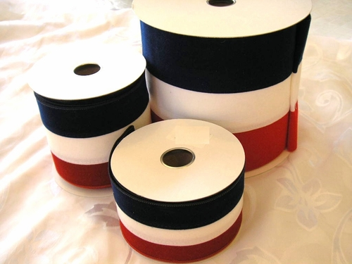 Red, White, and Blue Velvet Ribbon - click to enlarge