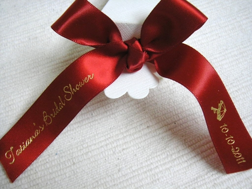 Shower Theme Favor Ribbon - click to enlarge