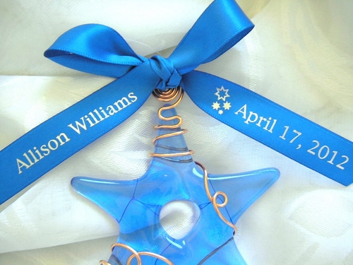 Stars Favor Personalized Ribbon - click to enlarge