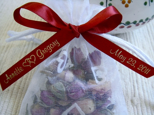 Sweethearts Wedding Favor Personalized Ribbon - click to enlarge