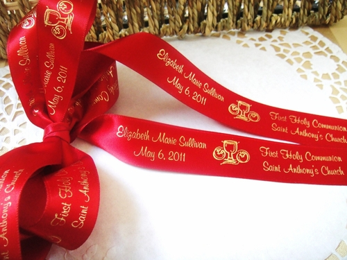 "Two Line Continuous Communion Ribbon - 7/8"" - click to enlarge"