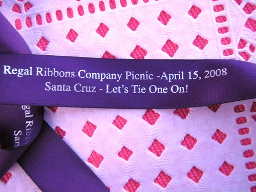 "Two Line Continuous Print 7/8"" Satin Ribbon - click to enlarge"