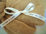 Typewriter Text Favor Ribbons