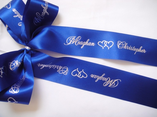 "Wide Wedding Ribbon - 2.5"" Width - click to enlarge"