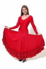 ADULT M - FLAMENCO DRESS: POLKA DOT RUFFLE (SP BT 9120 PDR)