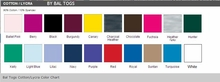 Bal Togs Cotton/Lycra Color Chart