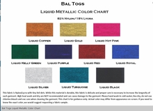 Bal Togs Liquid Metallic Color Chart